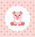cute bapig in bib icon vector image