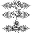 drawing of ethnic indian line art border vector image vector image