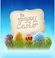 easter background with and sign vector image vector image