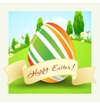 Easter Background with Decorated Egg vector image vector image
