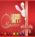 easter greeting card happy easter vector image vector image