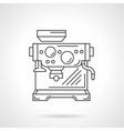 Espresso machine flat line icon vector image