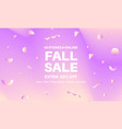 fall abstract sale banner vector image vector image