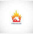 fire house logo vector image vector image