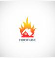 fire house logo vector image