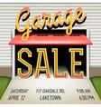 Garage Sale Poster vector image vector image