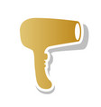 hair dryer sign golden gradient icon with vector image vector image
