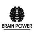 human brain power logo simple style vector image