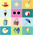 icons to summer recreation vector image