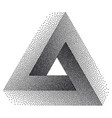 infinity or impossible triangle penrose triangle vector image