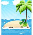 Island in the ocean vector image