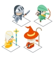 Isometric Fantasy RPG Game Character Icons vector image vector image