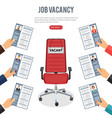 job agency employment and hiring concept vector image vector image