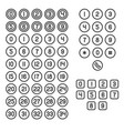 keyboard and number icons set on white background vector image vector image