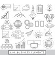 line icons set with business elements vector image vector image