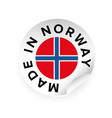 made in norway sticker tag vector image