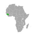 map guinea in africa vector image vector image