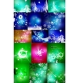 Mega set of shiny Christmas cards vector image vector image