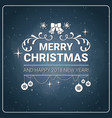 merry christmas message chalk board background new vector image
