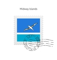 Midway Islands Flag Postage Stamp vector image vector image