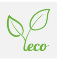 modern concept of maintaining ecology of planet vector image vector image