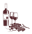 monochrome background template for wine menu vector image vector image
