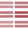 Mosaic Latvia flag set vector image vector image