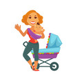 motherhood baby care happy mother and newborn vector image vector image