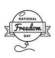 National Freedom day greeting emblem vector image