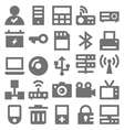 Network Technology Icons 4 vector image vector image
