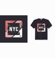 New york city stylish t-shirt and apparel abstract