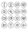 outline commercial icon set vector image vector image
