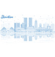 outline shantou china city skyline with blue vector image vector image