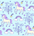 pattern with unicorns vector image vector image