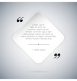 Quote on White Paper Sheet Template vector image vector image