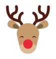 reindeer christmas character isolated icon vector image vector image