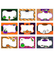 set cute halloween invitations vector image vector image