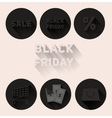 Set flat black icons Black Friday sale vector image vector image