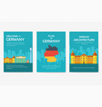 set of germany country ornament travel tour vector image vector image