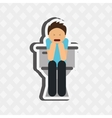 sick person design vector image