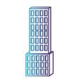 skyscraper building icon gradient color silhouette vector image vector image