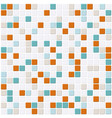 small colored mosaic with white filling vector image
