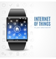 Smart Watch Internet Concept vector image vector image
