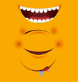 smile constructor cartoon emoticon emoji yellow vector image