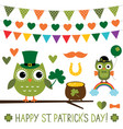 st patricks day design elements set vector image vector image