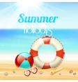 Summer holiday vacation travel background vector image vector image
