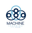 symbol of machine learning computers and vector image vector image