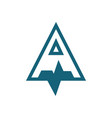 triangleletter a logo vector image vector image