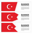 turkey flag banners collection independence day vector image vector image