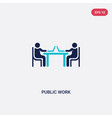 two color public work icon from humans concept vector image vector image